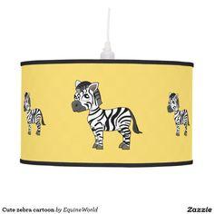 Cute zebra cartoon ceiling lamp