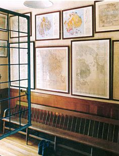 Frame our Mount Desert maps    Skylands, Martha's home in Maine, there is a room that displays her vast collection of antique maps of Mount Desert Island and its surrounding communities, some dating back to the mid-1800s.