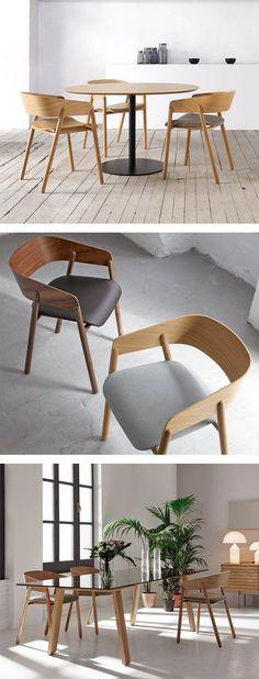 Die anschmiegsame Rückenlehne des Holzstuhl Mava von Punt sorgt für einen guten Sitzkomfort, die Sitzfläche kann auch mit einer Polsterung in Leder oder Stoff gefertigt werden.   #Stuhl #Holzstuhl #Esszimmer #diningroom #wohnbereich #Küche #Büro #Bürostuhl #modern #zeitlos #Inspiration #Inneneinrichtung #wohnstil #wohntrend #home #einrichten #wohnen #interiordesign #interiordecorating #Möbel #Design #Livarea #Punt