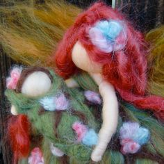 Needle felted Blooming Forest Mommy By Rebecca Varon  von Nushkie, $42,00