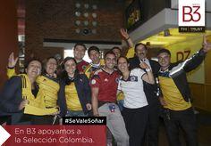Nuestro #TeamB3 se une al sueño de todo un país! #SeValeSoñar #FifaWorldCup2014 Fifa World Cup 2014, Colombia, The Selection, Countries