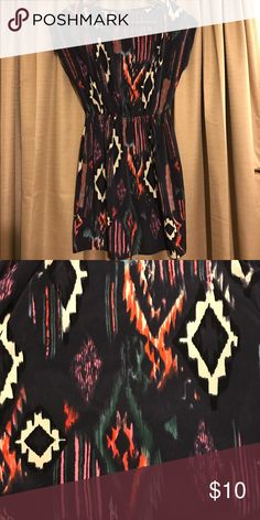 "Soprano tribal patterned dress Lightweight, tribal patterned dress by Soprano. Only worn a few times; great condition. I'm 5' 1"" and the hem fell just above my knees. Soprano Dresses Midi"