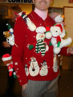 20 of the Funniest Ugly Christmas Sweaters Ever Made: 20 of the Funniest Ugly Christmas Sweaters Ever Made Bad Christmas Jumpers, Crazy Christmas Sweaters, Ugliest Christmas Sweater Ever, Christmas Jumper Day, Ugly Xmas Sweater, Christmas Night, Very Merry Christmas, Christmas Crafts, Christmas Decorations