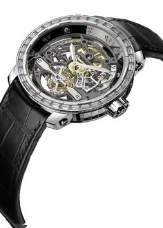 Twenty-8-Eight Skeleton Tourbillon High Jewellery , manually wound movement, white gold - T8.TH.009