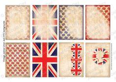 Instant Digital Download - Vintage Jubilee Union Jack ATC/ACEO backgrounds on Etsy, $3.70