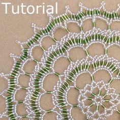 Encaje festoneado tapetito Beadwork patrón/Tutorial - descarga instantánea