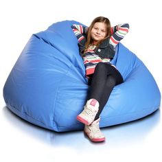 Relax XL babzsákfotel - kék Bean Bag Uses, Diy Bean Bag, Bean Bag Living Room, Modern Bean Bags, Bean Bag Design, Kids Living Rooms, Leather Bean Bag Chair, Bean Bag Furniture, Bean Bag Lounger