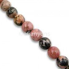Stone Beads - 6mm Rhodonite   Price : $3.99