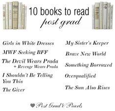 10 Books to Read Post Grad