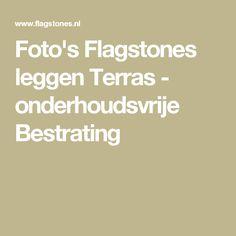 Foto's Flagstones leggen Terras - onderhoudsvrije Bestrating
