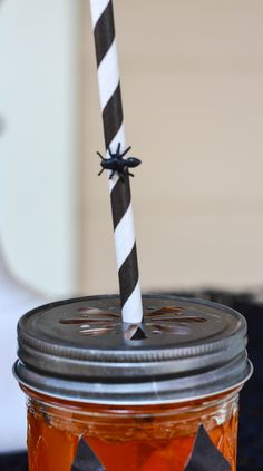 Add ants or spiders to your Halloween straws for some creepiness!