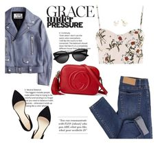 """""""Grace under pressure"""" by angel-with-shotgun on Polyvore featuring Cheap Monday, Topshop, Acne Studios, Gucci, Nine West and Majorica"""