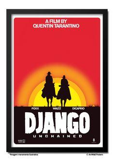 Poster Django Unchained (Tarantino) - QUADRO EMOLDURADO