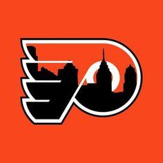 Philly Phan Apparel — Flyers Logo with Skyline Flyers Hockey, Boston Bruins Hockey, Hockey Logos, Nhl Logos, Ice Hockey Teams, Blackhawks Hockey, Sports Logos, Chicago Blackhawks, Hockey Players