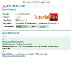 Hasil report broken link yang ditampilkan
