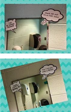 Put fun thought bubbles on the mirror