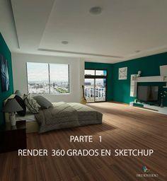 como hacer  render 360  en sketchup Render Sketchup, Bed, Furniture, Packaging, Home Decor, Planks, Drop Cloths, Interiors, Tutorials