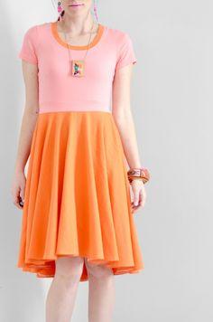 Easy Summer Dress - DIY High-Low Circle Dress by Melissapher  