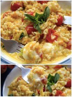 So vi agora. Veggie Recipes, Vegetarian Recipes, Cooking Recipes, Healthy Recipes, Risotto Recipes, Mediterranean Recipes, No Cook Meals, Food Inspiration, Italian Recipes