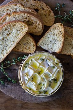 Thyme and Garlic Baked Camembert