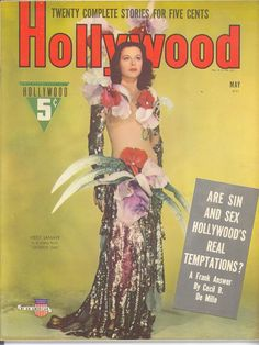 Hollywood Magazine featuring Hedy Lamarr in Ziegfeld Girl 1941 Star Magazine, Movie Magazine, Hollywood Magazine, Old Hollywood, Old Magazines, Vintage Magazines, Messy Nessy Chic, Ziegfeld Girls, Journals