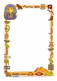 Ancient Egypt A4 page borders (SB4984) - SparkleBox