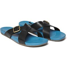 Paul Smith Leather Cross Strap Sandals
