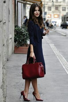 Elegant and simple. Love everything about this outfit....