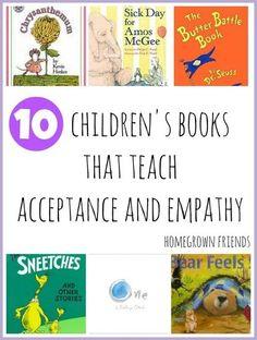 Children's books that teach acceptance and #empathy