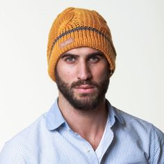 Cable Knit Beanie Yellow