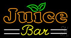 Double Stroke Juice Bar Neon Sign 20 Tall x 37 Wide x 3 Deep, is 100% Handcrafted with Real Glass Tube Neon Sign. !!! Made in USA !!!  Colors on the sign are Green, Orange, Yellow and White. Double Stroke Juice Bar Neon Sign is high impact, eye catching, real glass tube neon sign. This characteristic glow can attract customers like nothing else, virtually burning your identity into the minds of potential and future customers.