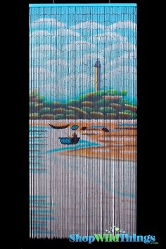 ShopWildThings Painted Bamboo Beaded Curtains and Door Beads have scenes that will look amazing in your home or office. These 90 Strand curtains feature the same image on both sides because each piece