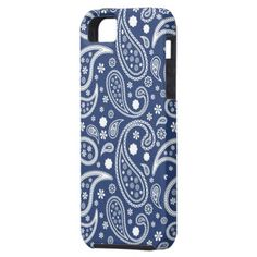 A Blue Tribal Floral Abstract Pattern - iPhone case for you.