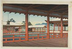 Kawase Hasui Japanese, 1883-1957  A Corridor at Miyajima (Miyajima no kairo), 1949  Color woodblock print 26.7 x 39.1 cm (paper); 24.2 x 36.6 cm (block)