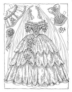 1854 VICTORIAN BRIDES Paper Dolls by Charles Ventura - 19 of 22