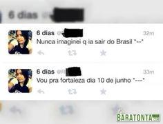 Nunca imaginei que ia sair do Brasil