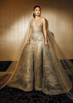 debut ideas Whos ready for a little sparkle? Gown by Nadine Lustre Fashion, Nadine Lustre Outfits, Nadine Lustre Instagram, Filipino, Lady Luster, Sparkle Gown, Filipina Beauty, Prom Looks, Iconic Women