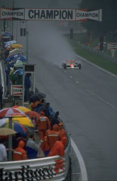 1989: Ayrton Senna in action in his McLaren Honda during the Belgian Grand Prix at the Spa circuit in Belgium.