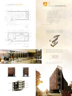 All sizes | Lamina Taller Vertical C-3 Vivienda Experimental | Flickr - Photo Sharing! paneel render layout