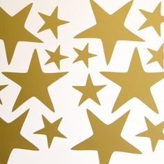 Big Star Wall Stickers - Pack of 30 by Bloobry