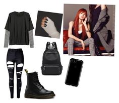"""BlackPink Lisa Bad Girl Style🖤"" by stella2002 on Polyvore featuring Mode, WithChic, Dr. Martens und Speck"