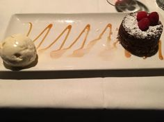 Legendary hot chocolate cake at Morton's The Steakhouse