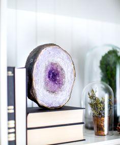 DIY: faux amethyst geode