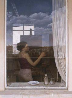 """Takahiro Hara, """"THE WINDOW"""", OIL ON LINEN"""