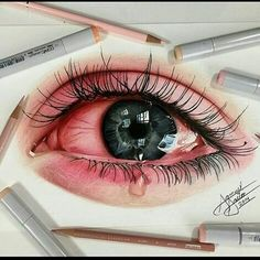 285 Eye Drawing Tutorials In like manner with any piece of unmistakable drawing, eyes can show inconvenient once in a while. Iris Drawing, Drawing Eyes, Crying Eye Drawing, Pencil Art Drawings, Easy Drawings, Iris Art, Eye Drawing Tutorials, Realistic Eye Drawing, Eye Sketch