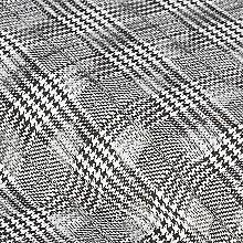 Leichter Jacquard 'Karo' mit Ausbrenner-Optik, schwarz/weiss Winter, Collection, Black, Winter Time