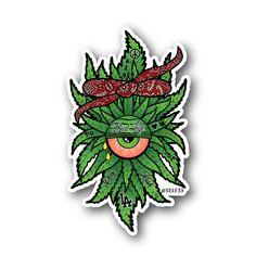 OG Kush Clops - Bud Life - Weed Cyclops Vinyl Sticker