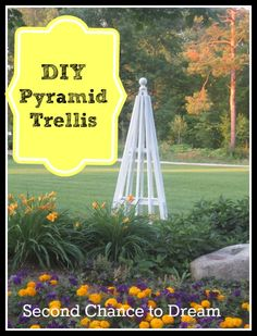 Upcycled Diy Pyramid Trellis