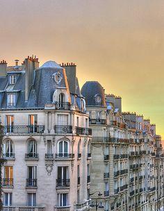 sunset over Paris IV