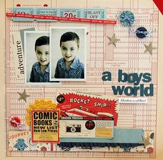 Love this layout by Amanda Reddicliffe for Creative Scrappers...